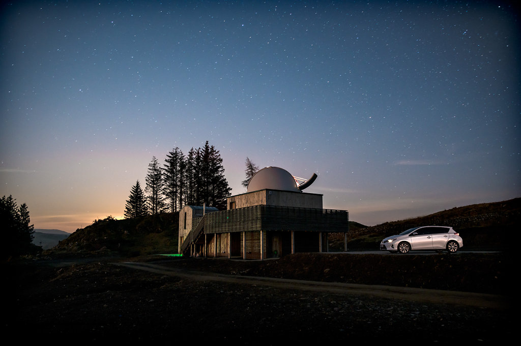 Toyota Auris, Dark Sky Observatory, Galloway Forest