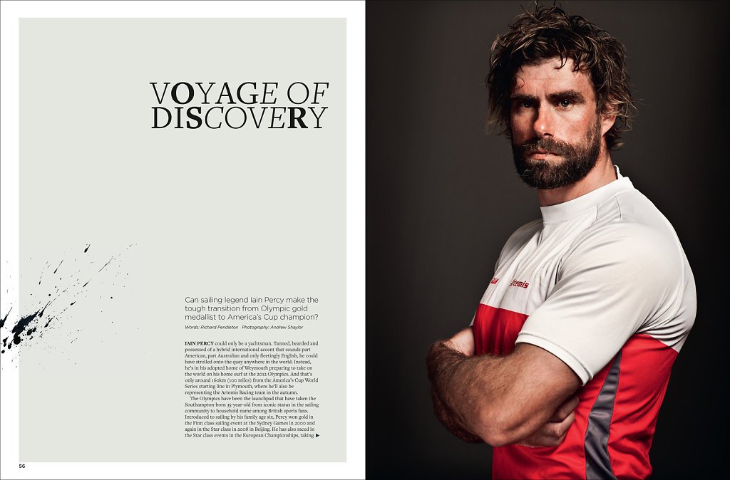 Iain Percy for Americas Cup Magazine