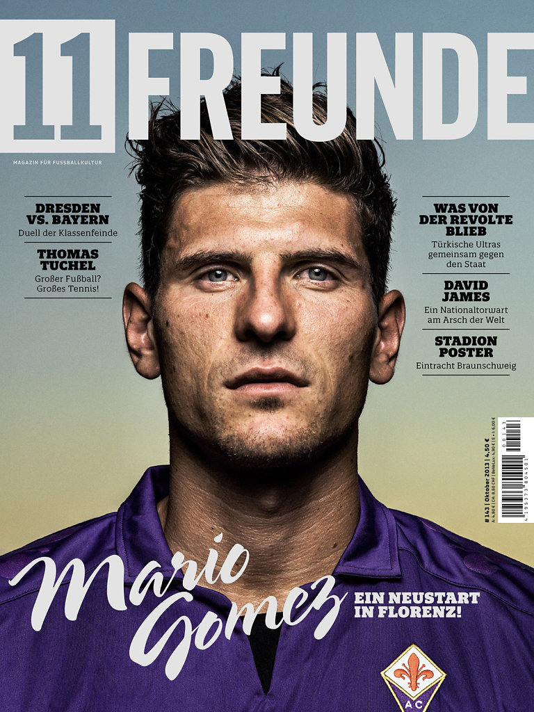 Mario Gomez Cover for 11 Freunde Magazine