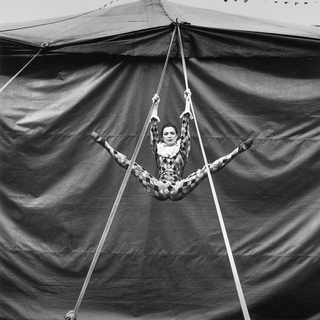 Lucy Morgan, Trapeze Artist, Harlequin Circus