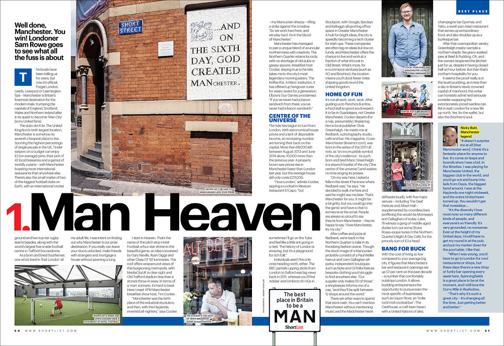 Shortlist feature on best place to be a Man(chester)
