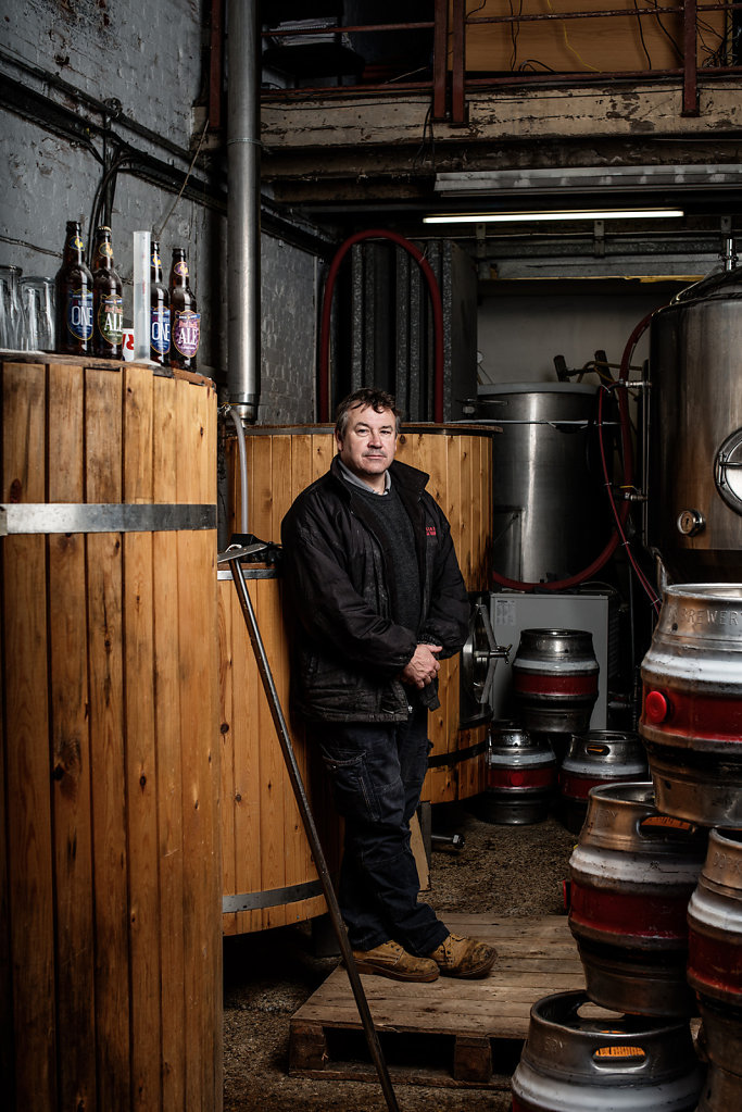 Graham Henderson photographed in the Dorking Brewery