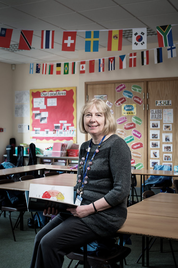 Mrs Sue Whittle photographed at St Pauls School