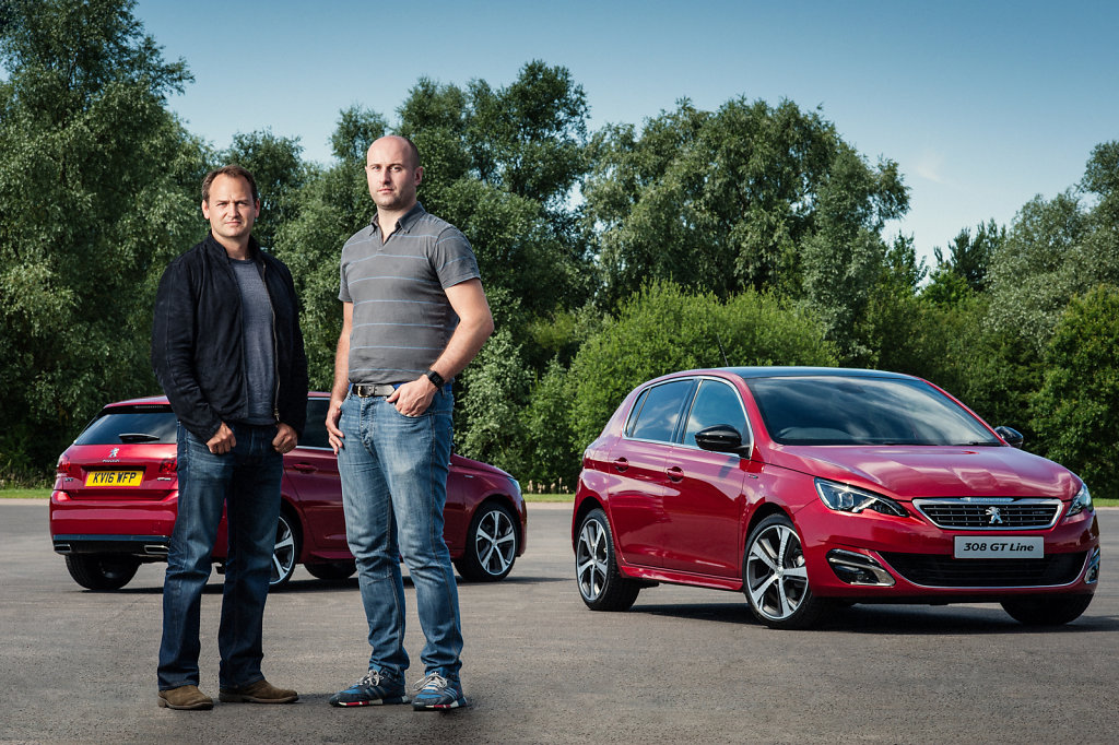 Ben Collins and Anthony Metcalfe with Peugeot GT Line