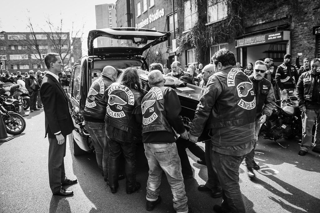 The funeral of 'Dodgy Dave' HAMC London