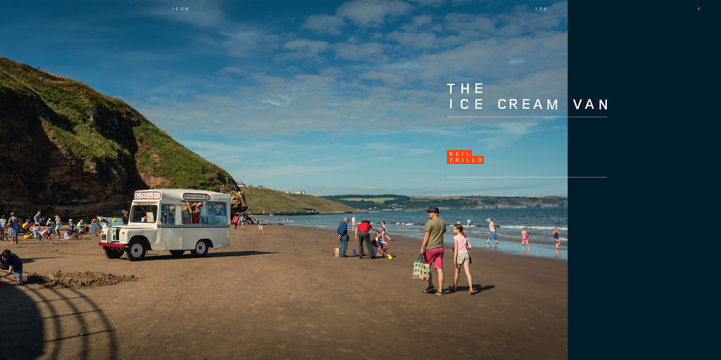 Trillo's Ice Cream for the official Land Rover book, 'Icon'